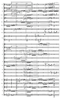 page from orchestra score
