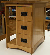 dovetailed drawer =